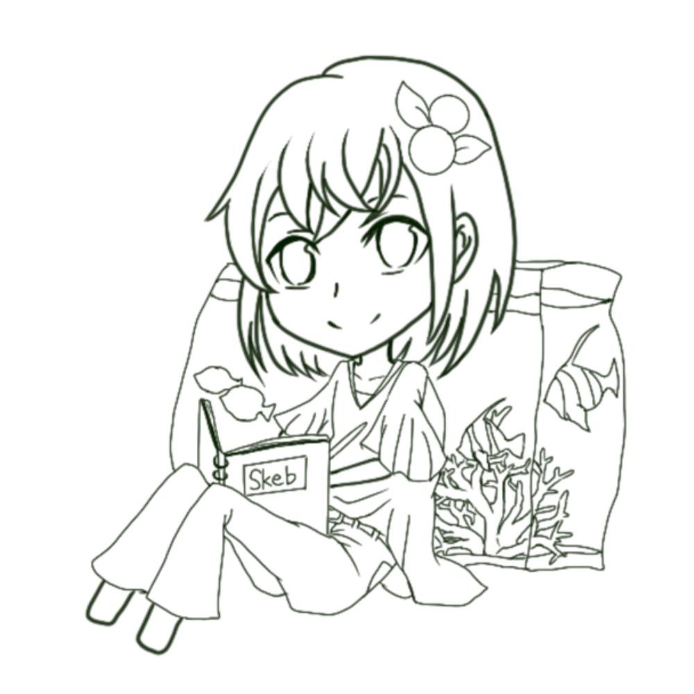 soukuブログ 自作アイコン procreate 線画