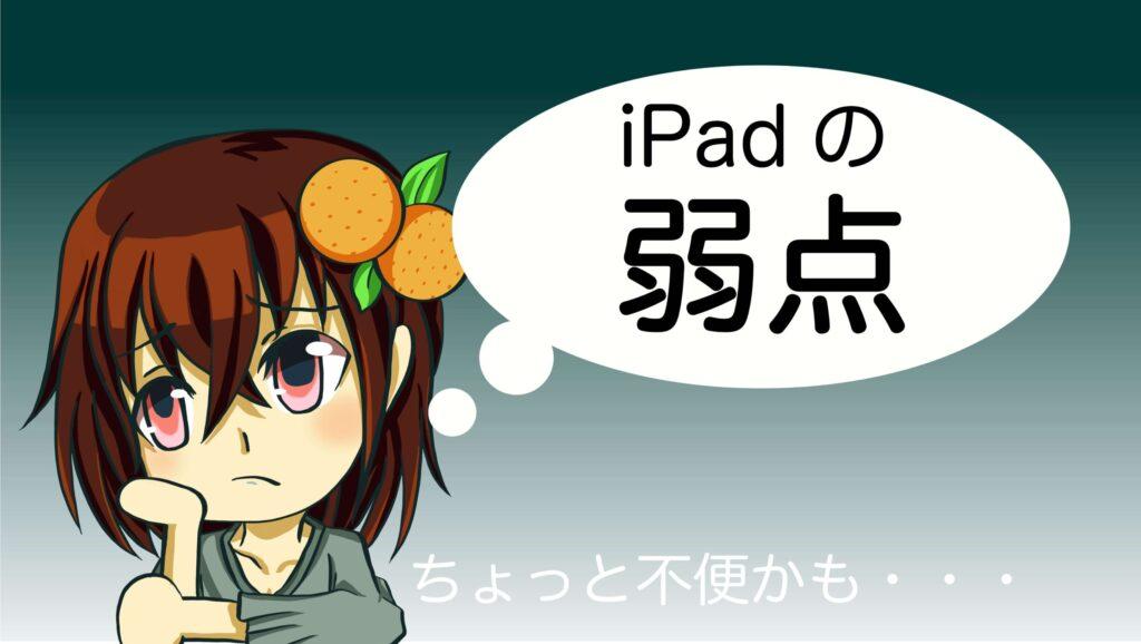 デジタル初心者向け iPad 弱点 デメリット