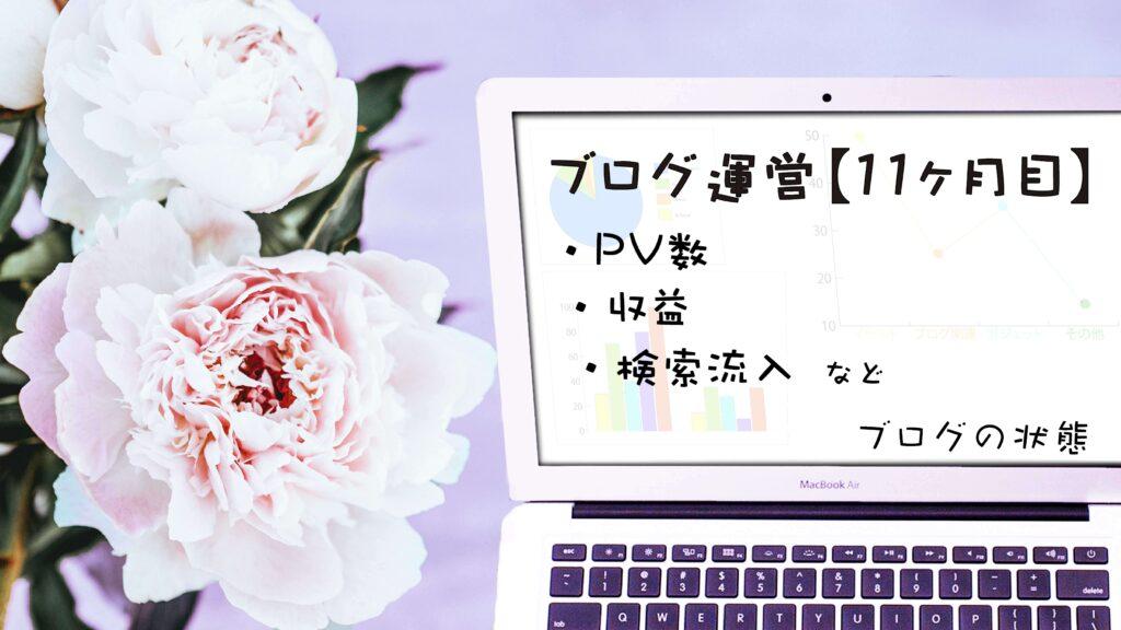 ブログ初心者 ブログ 収益 PV数 検索流入 ブログ運営 11ヶ月